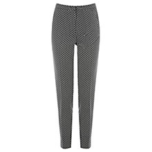 Buy Warehouse Geo Jacquard Trousers, Black Online at johnlewis.com