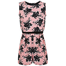 Buy Miss Selfridge Petite Tea Rose Playsuit, Rose Pink Online at johnlewis.com
