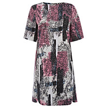Buy Warehouse Textured Print Shift Dress, Multi Online at johnlewis.com
