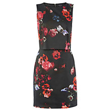 Buy Warehouse Poppy Layered Dress, Black Online at johnlewis.com
