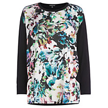 Buy Warehouse Vibrant Floral Front Top, Multi Online at johnlewis.com