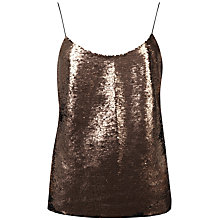 Buy Ted Baker Alodie Sequin Front Cami, Bronze Online at johnlewis.com