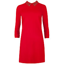 Buy Ted Baker Embellished Collar Dress, Red Online at johnlewis.com