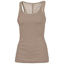 Buy Fat Face Lace Back Vest Top, Biscuit Online at johnlewis.com