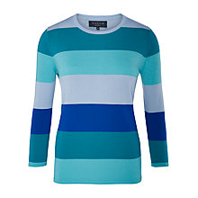 Buy Viyella Petite Merino Colour Block Jumper, Cobalt Online at johnlewis.com