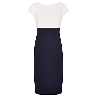 Viyella Colour Block Textured Dress, Navy