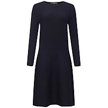 Buy Jaeger Wool Blend Flare Hem Dress, Navy Online at johnlewis.com