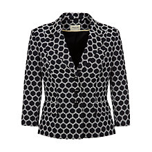 Buy Precis Petite Spot Jacquard Jacket, Navy Online at johnlewis.com