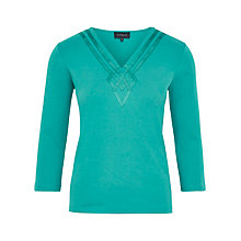 Buy Viyella Petite Grosgrain Trim V-Neck Top Online at johnlewis.com