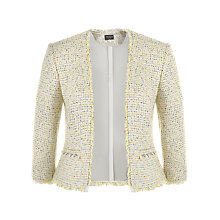 Buy Precis Petite Tweed Collarless Jacket, Multi Ivory Online at johnlewis.com
