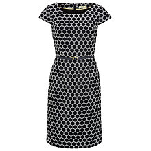 Buy Precis Petite Spot Jacquard Dress, Multi Dark Online at johnlewis.com