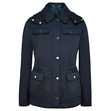 Buy Viyella Detachable Hood Parka Coat, Navy Online at johnlewis.com