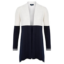 Buy Viyella Pure Merino Colour Block Cardigan, Navy Online at johnlewis.com