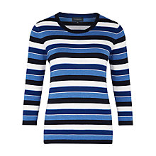 Buy Viyella Merino Striped Jumper, Navy Online at johnlewis.com