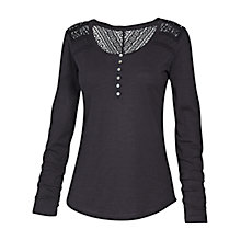 Buy Fat Face Lula Long Sleeve Henley Top, Phantom Online at johnlewis.com