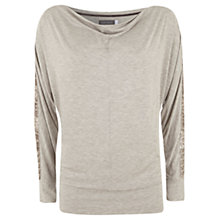 Buy Hygge by Mint Velvet Marl Sequin Batwing Top, Neutral Online at johnlewis.com