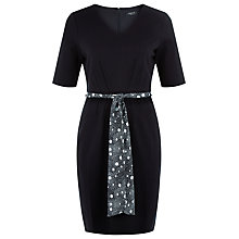 Buy Precis Petite Ponteroma Spot Belt Dress, Navy Online at johnlewis.com