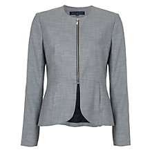 Buy French Connection Wendy Weave Long Sleeve Jacket, Black/White Online at johnlewis.com