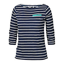 Buy Fat Face Seam Yoke Striped T-shirt, Indigo Online at johnlewis.com