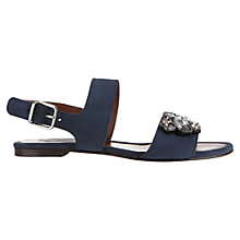 Buy Jigsaw Grace Suede Jewelled Sandals, Navy Online at johnlewis.com