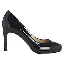 Buy Hobbs Juliet Patent Court Shoes, Black Online at johnlewis.com