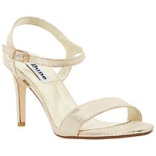 Buy Dune Mallorie Reptile Textured Sandals, Gold Online at johnlewis.com