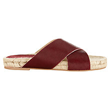 Buy Jigsaw Olivia Leather Slide Sandals Online at johnlewis.com