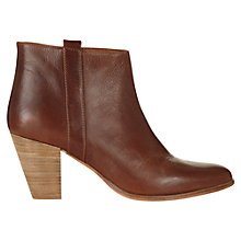 Buy Jigsaw Alice Leather Ankle Boots, Tan Online at johnlewis.com