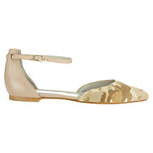 Buy Jigsaw Alice Leather Ankle Strap Sandals, Nude Online at johnlewis.com