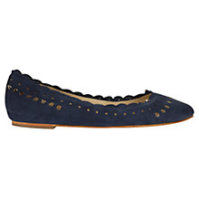 Buy Jigsaw Lucile Punch Hole Leather Pumps, Navy Online at johnlewis.com