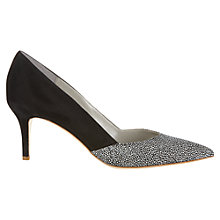 Buy Jigsaw Lily Suede Court Shoes, Black Online at johnlewis.com