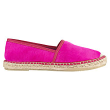 Buy Jigsaw Lottie Slip On Espadrilles, Navy Online at johnlewis.com