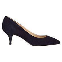 Buy Hobbs Arianne Suede Court Shoes, Navy Online at johnlewis.com