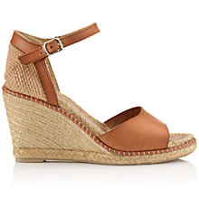 Buy Jigsaw Lia Leather Espadrille Sandals, Tan Online at johnlewis.com