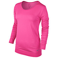 Buy Nike Seamless Dri-FIT Knit Epic Crew Neck Top Online at johnlewis.com