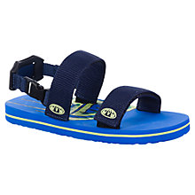 Buy Animal Children's Bodhy Sandals, Blue/Black Online at johnlewis.com