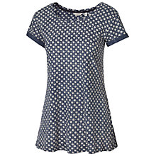 Buy Fat Face Devon Batik Star Swing Top, Blue Online at johnlewis.com