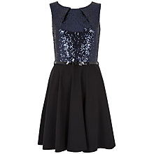 Buy Closet Sequin Bodice Flared Dress, Black Online at johnlewis.com