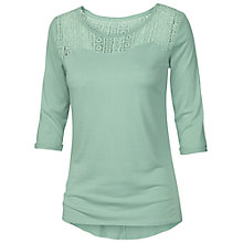 Buy Fat Face Lydia Lace T-Shirt, Frost Green Online at johnlewis.com