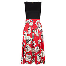 Buy Closet Floral Print Midi Dress, Multi Online at johnlewis.com