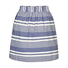 Buy Fat Face Bramley Stripe Skirt, Dark Chambray Online at johnlewis.com