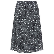 Buy Precis Petite Spot Georgette Skirt, Navy Online at johnlewis.com