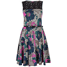 Buy Closet Lace Top Floral Skater Dress, Multi Online at johnlewis.com