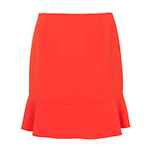 Buy French Connection Whisper Light Fluted Hem Skirt, Sunset Orange Online at johnlewis.com
