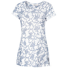 Buy Fat Face Devon Climbing Clover T-Shirt, White Online at johnlewis.com