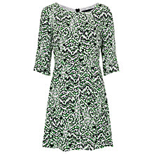 Buy French Connection Multi Leopard Dress, Astro Green Multi Online at johnlewis.com
