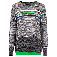 Buy French Connection Multi Striped Jumper, Grey Online at johnlewis.com