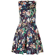 Buy Closet Floral Cut-Out Skater Cotton Dress, Multi Online at johnlewis.com