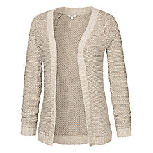 Buy Fat Face Loftus Textured Edge Cardigan, Ivory Online at johnlewis.com