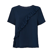 Buy French Connection Polly Plains Frill Front T-Shirt Online at johnlewis.com